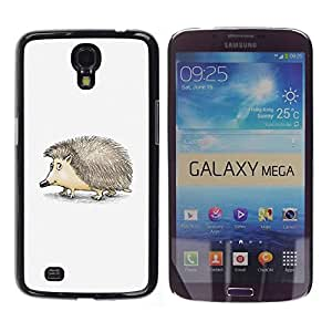 PC/Aluminum Funda Carcasa protectora para Samsung Galaxy Mega 6.3 I9200 SGH-i527 Hedgehog Thorns Cute Animal Drawing Art / JUSTGO PHONE PROTECTOR