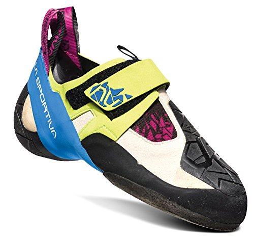 La Sportiva Women's Skwama Climbing Shoe, Apple Green/Cobalt Blue, 35.5 M EU