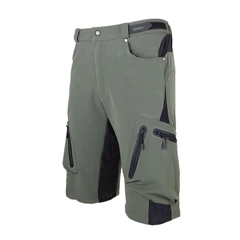 Blike Mes's MTB Cycling Climbing Shorts Loose Fit Shorts Green L by Blike