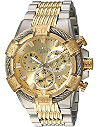 Men's 'Bolt' Quartz Stainless Steel Casual Watch, Color:Two Tone (Model: 25864)