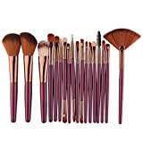 Hot sale!!! Cosmetic Brush Set,Jushye New 18 pcs Makeup Brush Set tools Make-up Toiletry Kit Wool Make Up Brush Set (Purple)