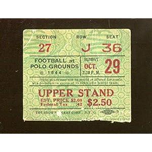 1944 Philadelphia Eagles v New York Giants Ticket 10/29 Polo Grounds 44796