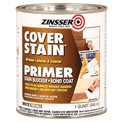 Zinsser 03504 Cover Stain Interior/Exterior Oil Primer Sealer, 1 Quart,  White