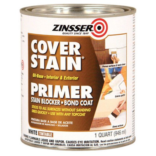 Wood Primer - Zinsser 03504 Cover Stain Interior/Exterior Oil Primer Sealer, 1-Quart, White