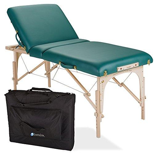 EARTHLITE Portable Massage Table Package AVALON TILT – Reiki Endplate, Premium Flex-Rest Face Cradle & Strata Cushion, Carry Case ()