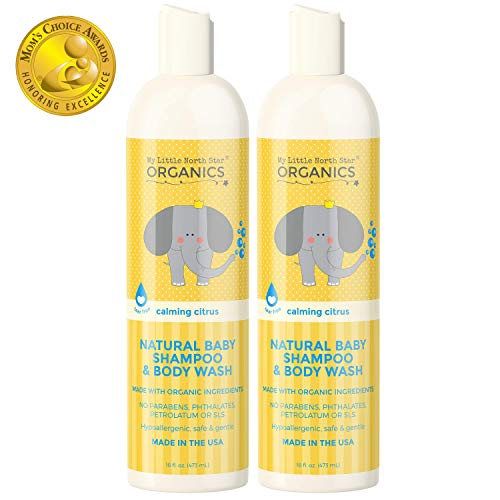 Organic Baby Shampoo & Body Wash - Tear-Free Shampoo for Toddlers & Kids - Chemical-Free Natural Body Wash - Made in the USA - Calming Lavender & Citrus Essential Oils Baby Wash & Shampoo 2 in 1 by My