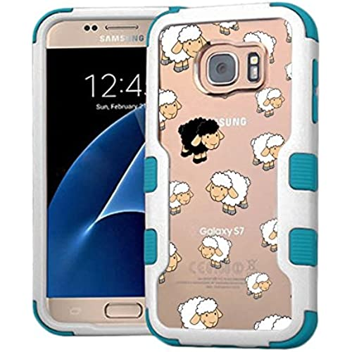 Galaxy S7 Case Black Sheep, Extra Shock-Absorb Clear back panel + Engineered TPU bumper 3 layer protection for Sales