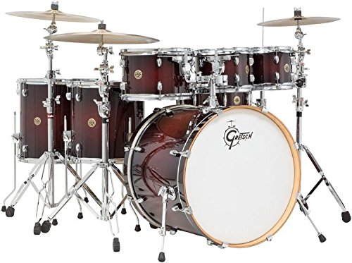 Gretsch-CM1E826PDCB-2014-Catalina-Maple-6-Piece-Shell-Pack-with-Free-Additional-8-Tom-Deep-Cherry-Burst