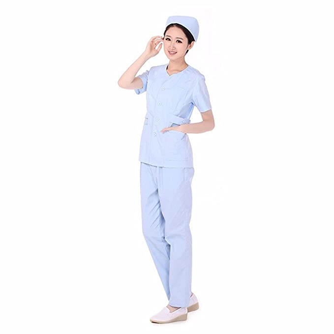 Xuanku Medical Abrigo Blanco, Médico De Bata Blanca, De Manga Corta, Laboratorio,