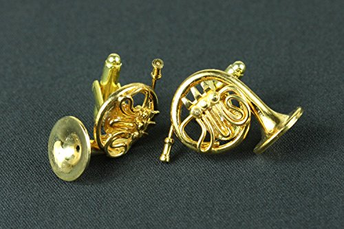 Miniblings Cuff Horn French Horn Box Buttons Musicians Cufflinks Links Gold Horn Plated 7rpSwUx7