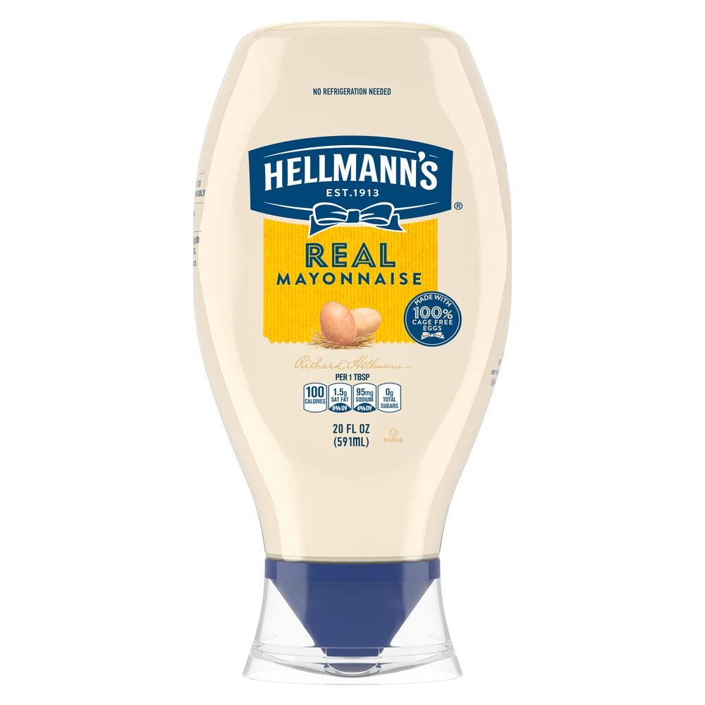 Hellmann's Mayonnaise Squeeze Bottle Real 20 oz, Pack of 12