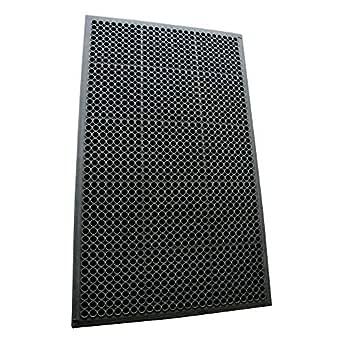 "Rubber-Cal 03_122_WBK 1/2-inch Dura Chef Anti-Slip Rubber Kitchen Mat, 1/2"" x 36"" x 60"", Black"