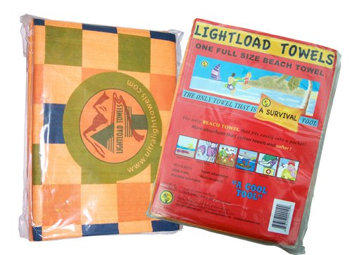 Lightload Towels Ez Carry Beach Swim Towels Quick Dry Large Non Microfiber Anti Microbial Absorbent Travel Towel for Camping Gym Backpacking Swimming Sports 5 oz 1 Piece 36x60 - Light Load Beach Towel
