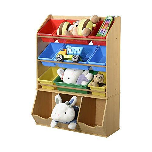 American Furniture Classics 12 Bin Organizer for Toys, Light Oak