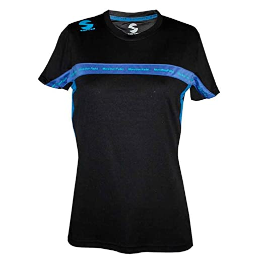 Softee - Camiseta Padel Club Mujer Color Negro/Royal Talla XS ...