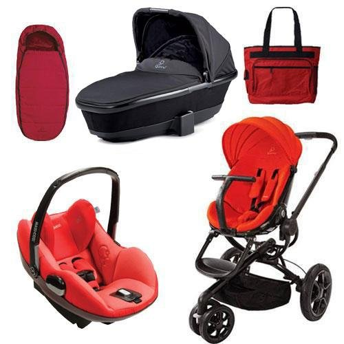 Quinny Moodd Prezi Complete Collection in Red Envy Black