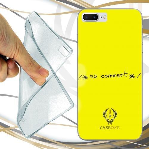 CUSTODIA COVER CASE CASEONE NO COMMENT GIALLO PER IPHONE 7 PLUS