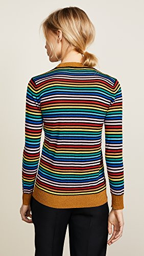 Etre Cecile Women's Etre Boyfriend Crew Knit Sweater, Multi Stripe, Large by Etre Cecile (Image #3)