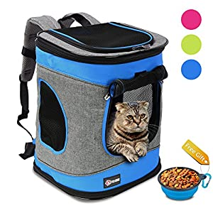 5. Pawsse Pet Carrier Backpack for Dogs and Cats up to 15 LBS Comfort Dog Cat Carrier Travel Bag Breathable