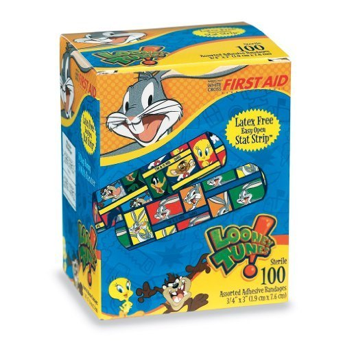 First-aid Looney Tunes Bandages - 100 Per Pack by SmileMakers Inc