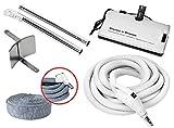 30' Hose Kit with Beam Central Vacuum Electric Powerhead Sweep N Groom Rugmaster