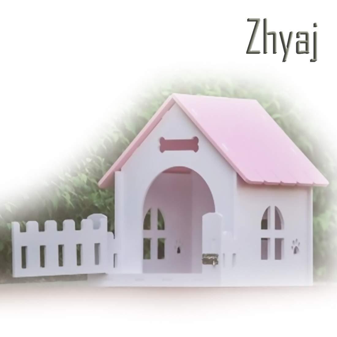 2 BZhyaj Outside Dog Kennel Cat Nest Ventilation Breathable Outdoor Dog Villa Summer Pet Dog Bed Outdoor Dog House,1,A