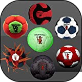 Collection of 7 Pro Footbags Hacky Sack Sand & Iron, Pellets & Iron All footbags