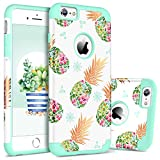 BENTOBEN Case for iPhone 6s/6, Pretty Pineapple Super Slim Hard PC Soft Rubber Glossy Anti-Scratch Shock Proof Impact Resistant Girl Women Protective Case Cover for Apple iPhone 6/6s 4.7', Mint Green