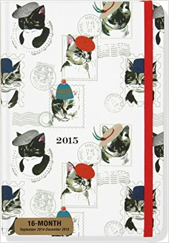 2015 cat weekly planner 16 month engagement calendar diary