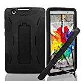 protective lg tablet case - LG G Pad X 8.0 V521 Case, {NFW} Premium Hybrid Drop Proof Armor Defender Full-body Protection Heavy Duty Kickstand Case for LG G Pad X 8.0 V521/G Pad III 8.0 V525 2016 (T-Mobile) (HVD Black/Black)