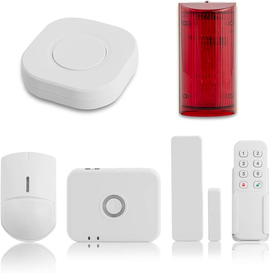 Ray@Home I 6 Piece I Long Range Wireless Security System l No Contract, App Control, Long Lasting Battery Powered Sensors Approx. 3 Years…