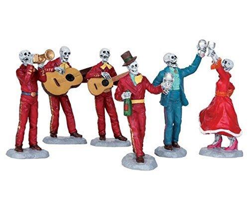 Lemax Spooky Town Fiesta De Los Muertos Set of 6 # 52309 -