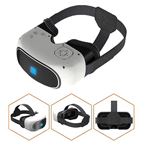3D VR All in one Virtual Reality 3D Glasses, Android 5.1 1G/8G HDMI 19201080 HD Video Movie Game with Wifi Bluetooth Support TF Card