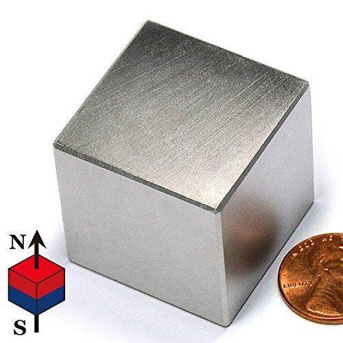 Powerful Cube Magnet N42 Neodymium A Large 1.25