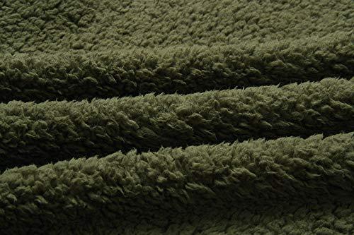Fourrure Manches Longues Hiver Leslady Manteau Laine Femmes Outerwear Avec Chaud Boutons Épai De Vert Veste Fausse q7q8a0w
