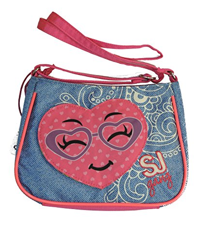 SHOULDER BAG borsa borsetta tracolla SJ GANG girl BLU Seven FLIP BAGS cambia soggetto pattina