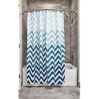 """Cortina de ducha de tela Chevron InterDesign 52020 Ombre - Estándar, 72 """"x 72"""", azul múltiple"""