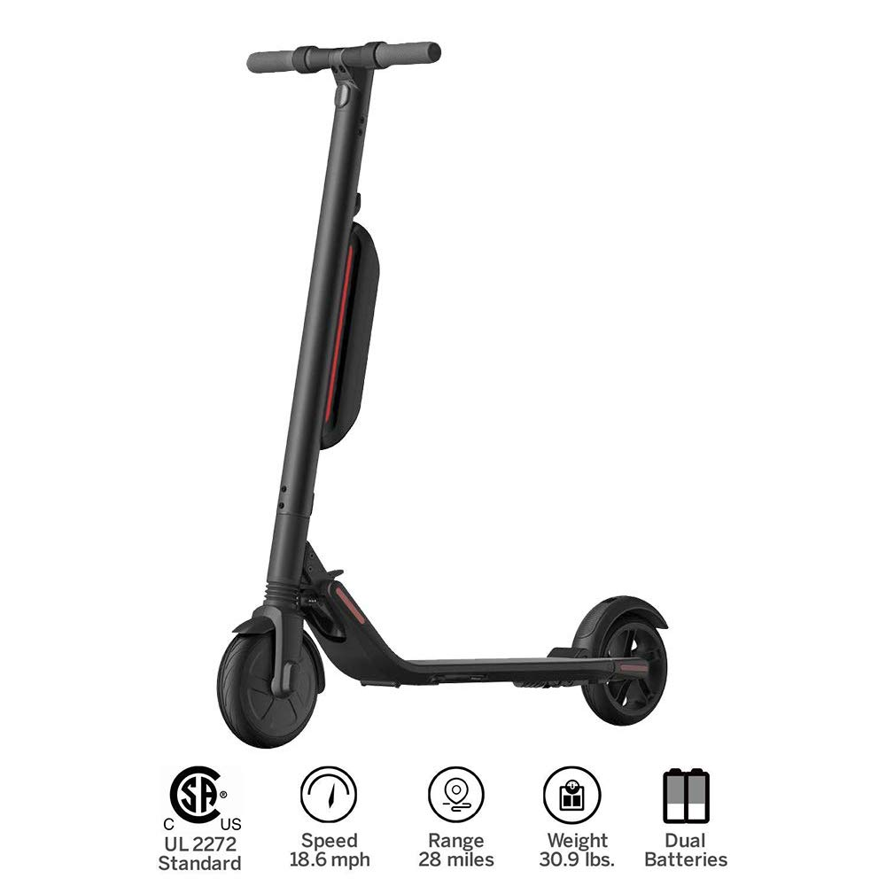 Segway Electric KickScooter Foldable Commuter Scooter, 28 Mile Range, 18.6 mph Top Speed, Cruise Control, Bluetooth Mobile App Connectivity for Adults and Kids(Scooter ES4)
