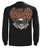 Harley-Davidson Men's Eagle Piston Long Sleeve Crew