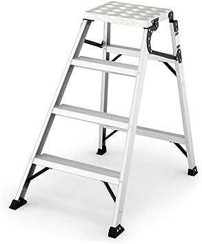 GBX Escalera de Ingeniería Plegable, Escalera con Plataforma de Aluminio 2 Pasos 3 Pasos 4 Pasos Escalera Ascendente de Trabajo Aéreo, Blanco (Color: 4 Pasos),4 Pasos: Amazon.es: Bricolaje y herramientas