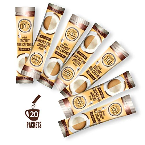 Coconut Cloud: Vanilla Vegan Coffee Creamer ~ Improved Recipe 19 | Coconut Powdered Milk + MCT Oil. Minimally Processed (Plant Based, Non-GMO, Gluten, Soy Dairy Free), 20 sticks