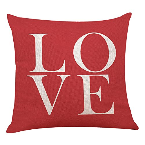 iYBUIA Modern Design Home Decor Cushion Cover Red Geometric Throw Pillowcase Pillow Covers]()