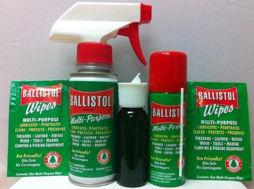 Ballistol Multi-Purpose Lubricant - MIS Kit #14 - (1) 1.5oz Aerosol - (1) 4oz Non-Aerosol - (1) Trigger Sprayer - (2) Wipes - (1) Utility Bottle w/ Cap by Ballistol