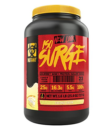 Mutant ISO Surge Whey Protein Powder Acts Fast to Help Recover, Build Muscle, Bulk and Strength, Uses Only High Quality Ingredients, 1.6 lb – Coconut Cream