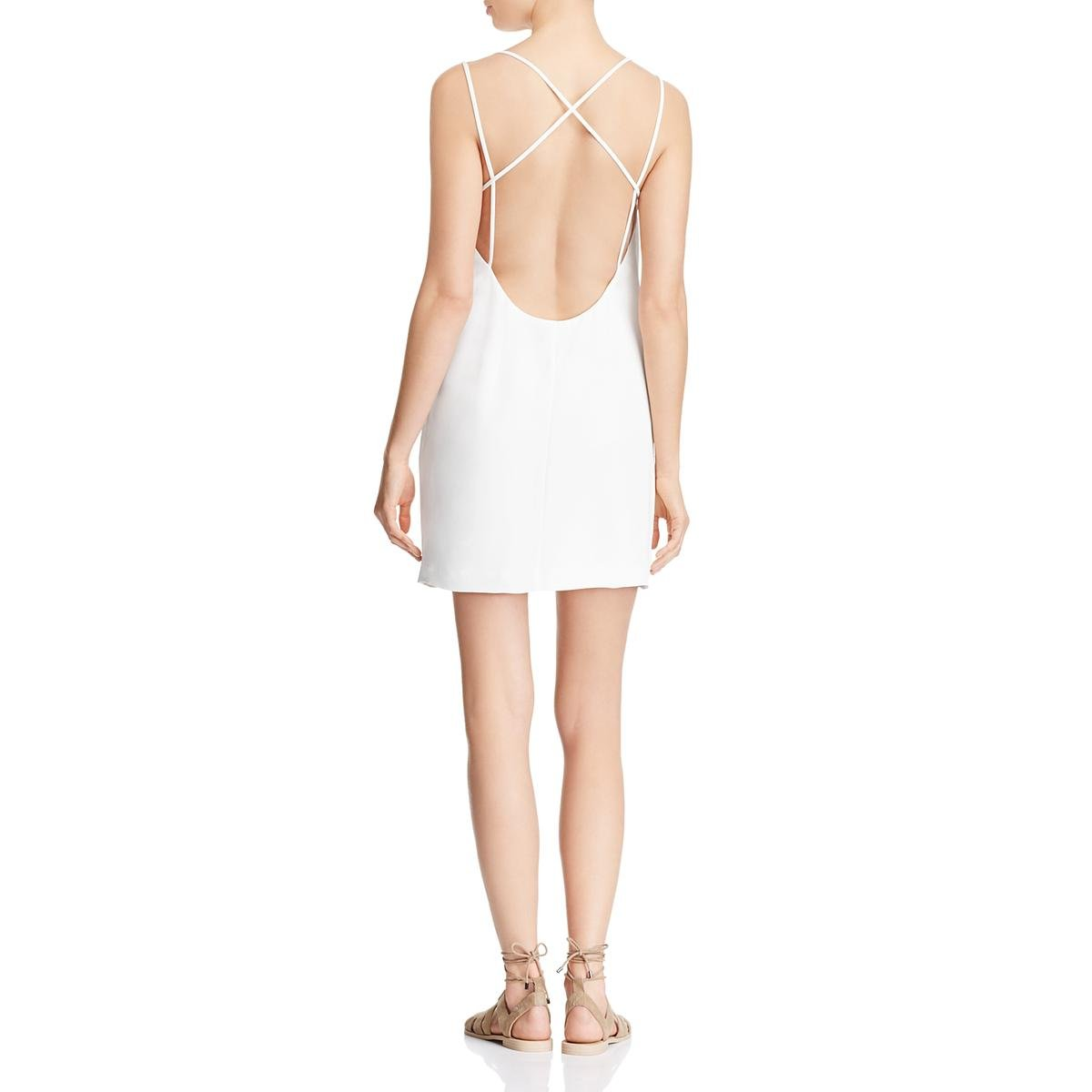 French Connection Womens Crepe Open Back Mini Dress White 10 by French Connection (Image #2)