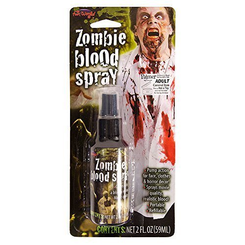 Fancy Dress Zombie Blood Spray (Halloween Film Characters Costumes Uk)