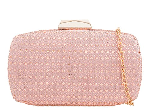 Clutch Prom Pink Diamante Out Night 2135 Women's Handbags Bag LeahWard Wedding ExqOT7Cxw
