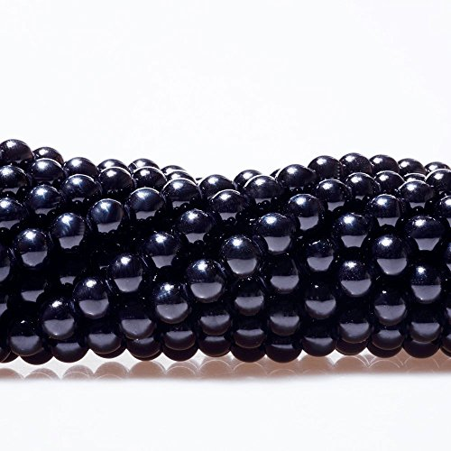 Round Red Glass Beads (AMZ Beads  - 8MM Glass Round Pearls Jewelry Making Loose Beads - 250 bead pack (Jet Black) )
