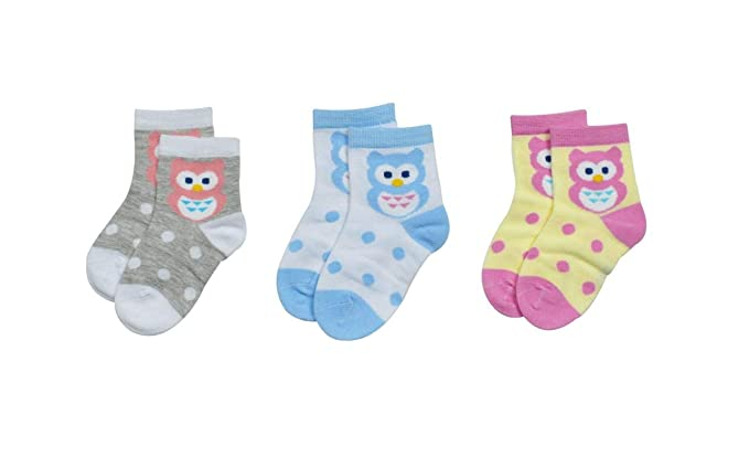 premium selection large discount newest Kidofash Owl Design Pack of 3 Multi-Coloured Cotton Socks ...
