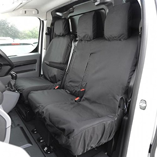 UK Custom Covers SC294BAD2 Tailored Heavy Duty Waterproof Front Seat Covers - Black